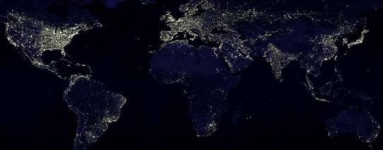NASA: Earth at night
